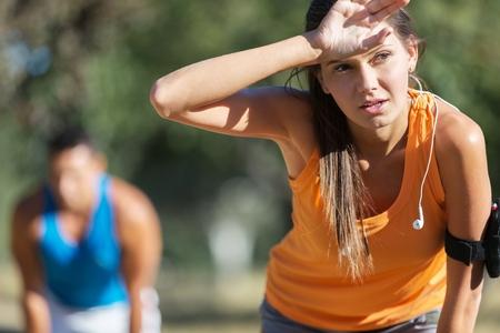 sportsmen: Runner. Stock Photo