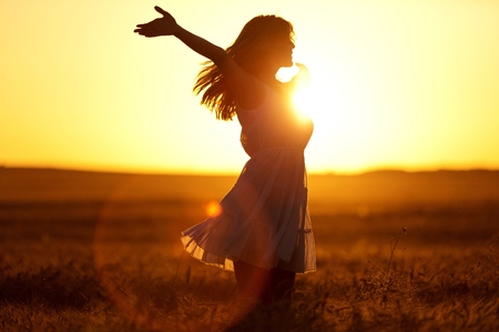 sunbeam: Joy. Stock Photo