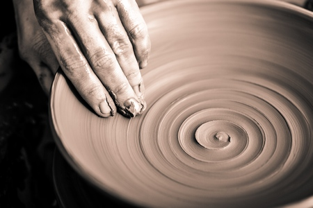 wheel spin: Pottery.