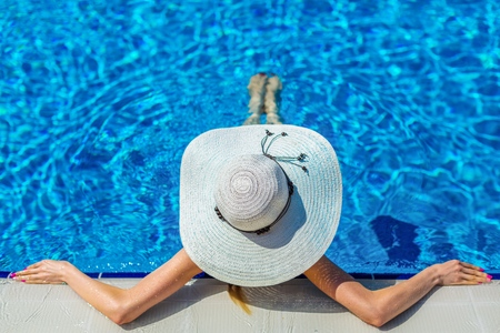 relaxing: Pool. Stock Photo