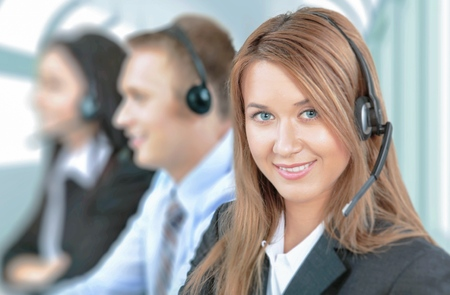 headset business: Service. Stock Photo