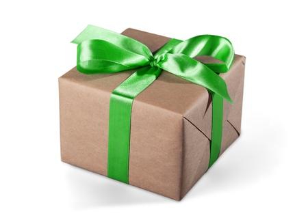 cardboard: Gift. Stock Photo