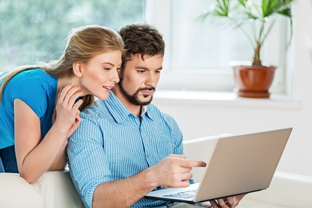 computers: Couple. Stock Photo