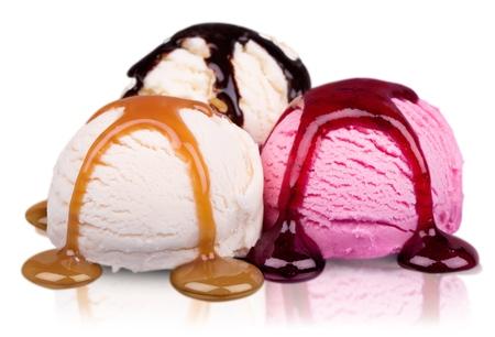 helado de chocolate: Hielo.