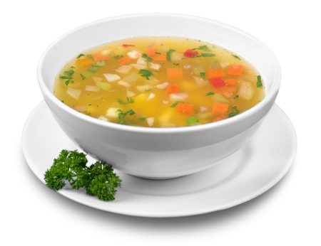 vegetable soup: Soup. Stock Photo