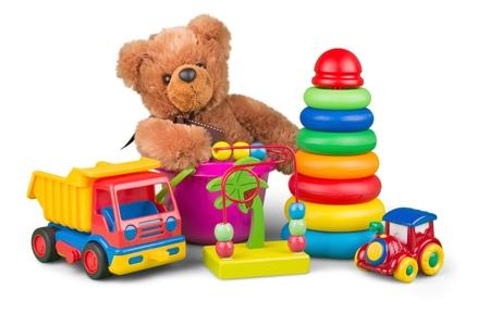 children background: Toys. Stock Photo