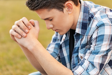 christian: Pray. Stock Photo