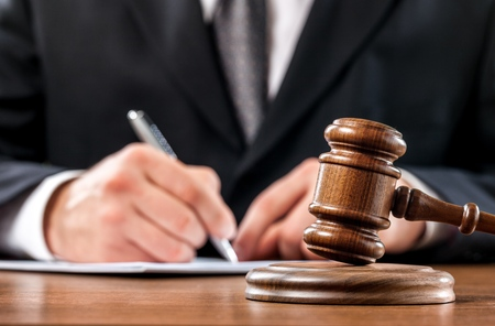 auction gavel: Judge. Stock Photo
