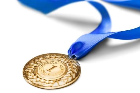 nombre d or: Médaille. Banque d'images