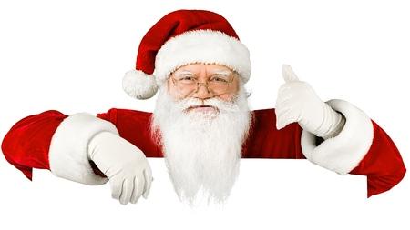 peep out: Santa Claus. Stock Photo