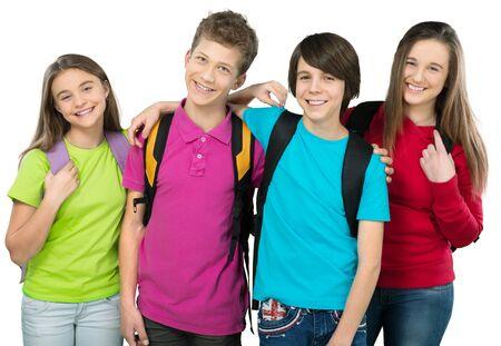 niños sonriendo: Colegio.