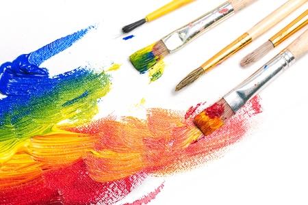 brush painting: Paintings. Stock Photo