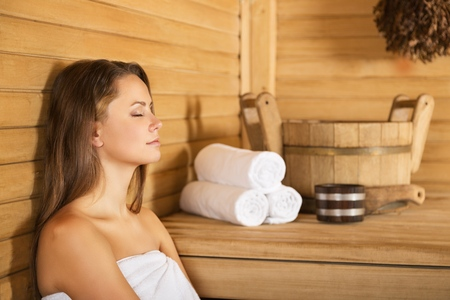 sex symbol: Sauna. Stock Photo