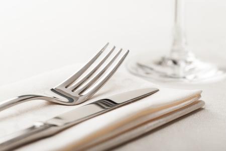 cubiertos de plata: Alimentos. Foto de archivo