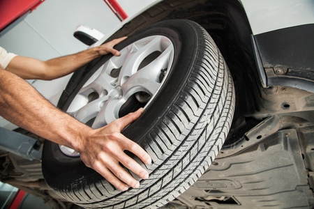 changing form: Tire. Stock Photo