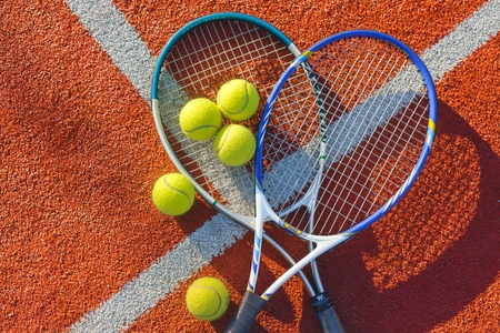 tennis racket: Tennis. Stock Photo