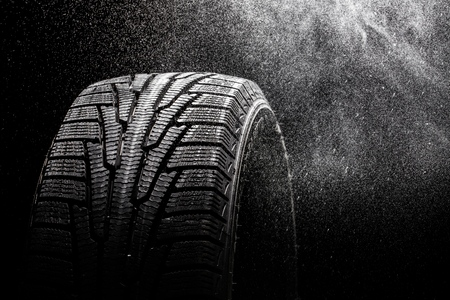 winter tires: Tire. Stock Photo
