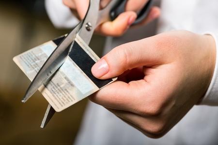 クレジット カードです。 写真素材
