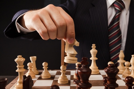 strategy: Ajedrez. Foto de archivo