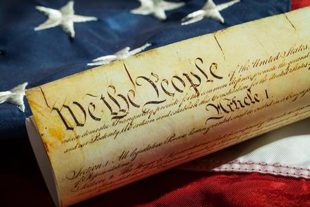 Constitución de Estados Unidos. Foto de archivo - 48196373