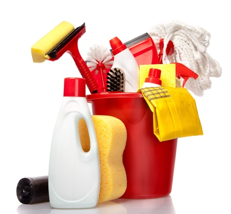 cleaning equipment: Cleaning. Stock Photo