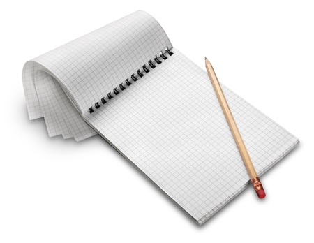 pencil and paper: List.