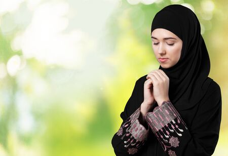 niqab: Islam. Stock Photo