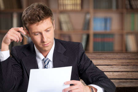 business letter: Reading. Stock Photo