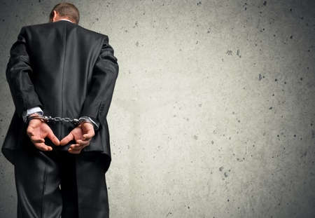 dishonesty: White Collar Crime. Stock Photo