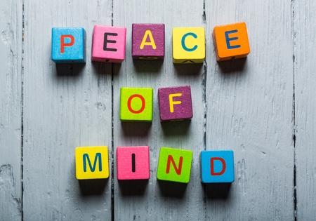 peace of mind: Mind. Stock Photo