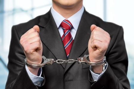 law suit: Handcuffs.