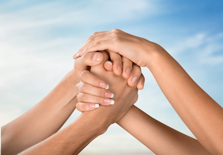 orando manos: Respeto.