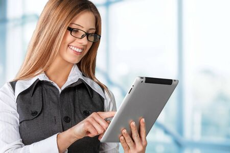 phone business: tablet Stock Photo