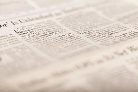 Newspaper. Reklamní fotografie