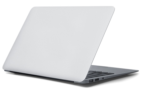 back screen: Laptop. Stock Photo