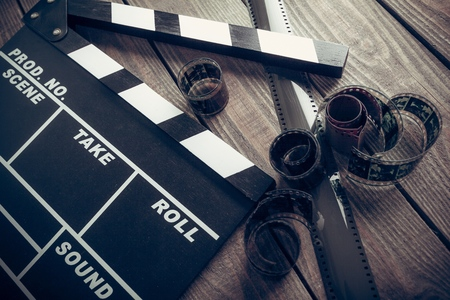 video reel: Film. Stock Photo