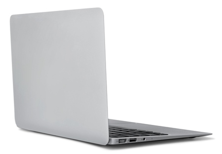 back: Laptop. Stock Photo