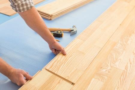 hardwood floor: Floor. Stock Photo