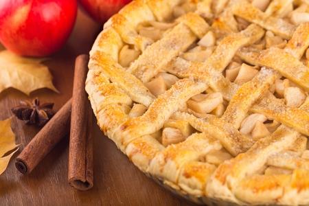 pie de manzana: Pastel. Foto de archivo