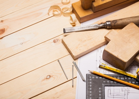 carpentry: Carpentry. Stock Photo