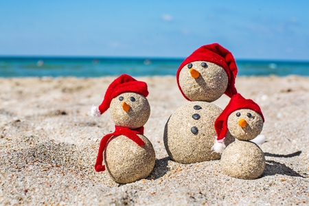 playas tropicales: Muñeco de nieve.