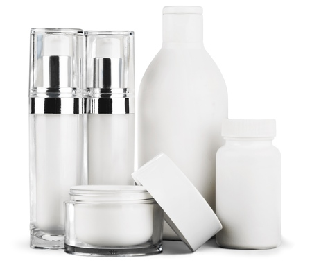 glass containers: Cosmetics.