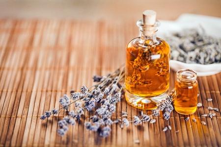 aromatherapy: Lavender. Stock Photo