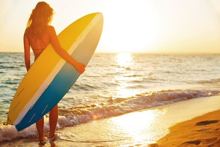Surfer. Stock Photo