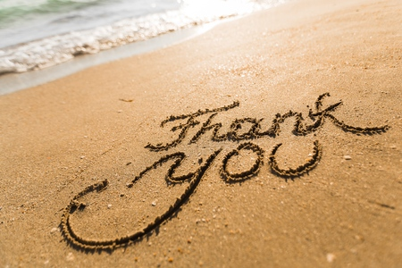 gratitude: Thank You. Stock Photo