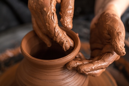 clay craft: Pottery.