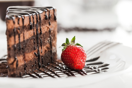 chocolate cake: Cake. Stock Photo