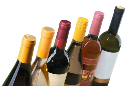 glass bottles: Wine Bottle. Stock Photo