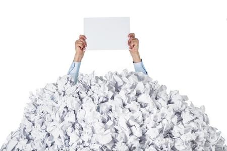 pile of paper: Paper.