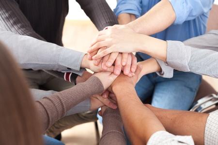 teamwork hands: Human Hand.